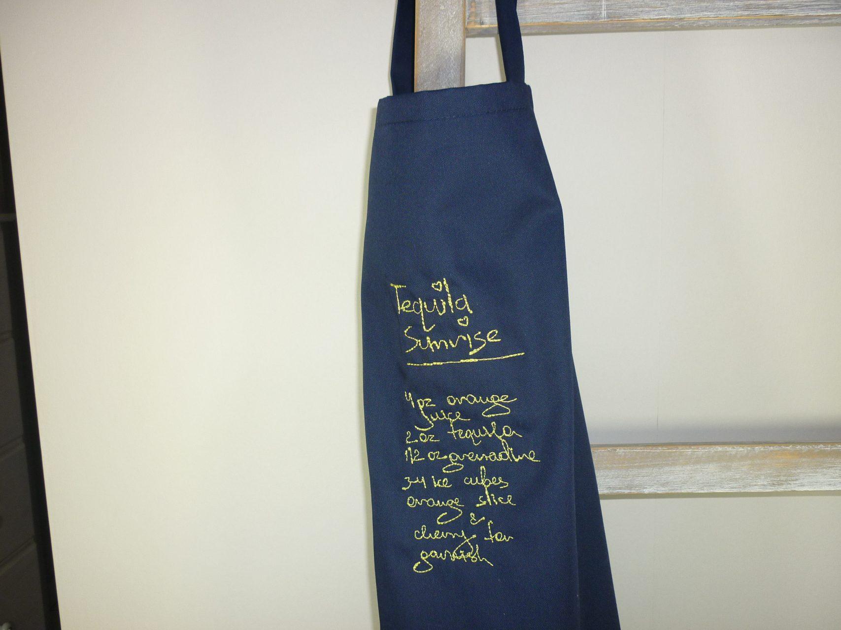 Tablier de cuisine marine homme t quila fabrication fran aise Tablier de cuisine pour homme