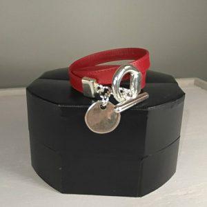 bracelet cuir rouge