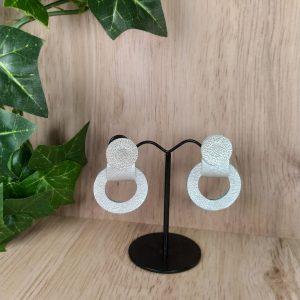boucles d'oreilles en cuir réversibles